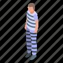 jail, prisoner, isometric