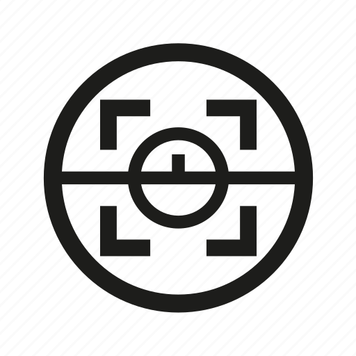 bullseye, crosshair, military, target icon