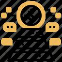 analytics, chart, database, platform, pyramid icon