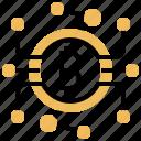 bitcoin, blockchain, cyber, digital, money icon