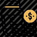 budget, coin, fund, jar, saving icon