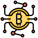 bitcoin, blockchain, cyber, digital, money icon
