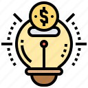 bright, bulb, creative, idea, innovation icon