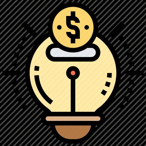 bright, bulb, creative, idea, innovation icon
