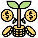growth, interest, investment, money, profit icon