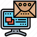 computer, email, internet, letter, message icon