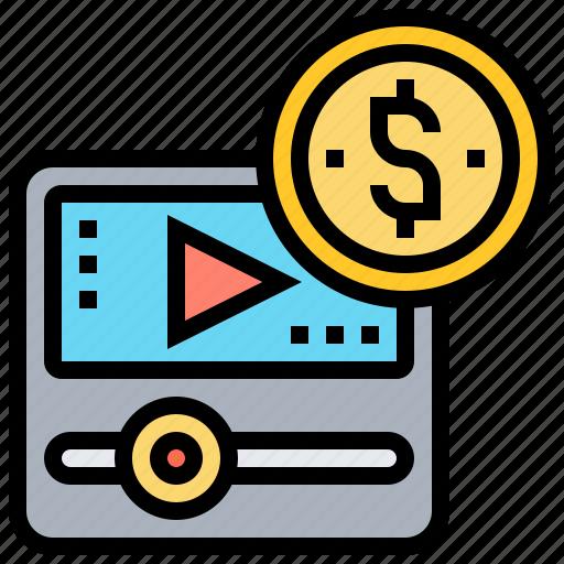 brand, multimedia, presentation, stories, video icon