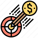 achievement, aim, challenge, focus, target icon
