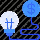 money, idea, investment, finance, bulb