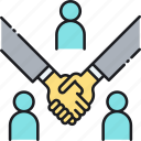 agreement, broker, deal, dealer, handshake, investor icon