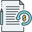 cash, convertible note, evaluation, finance, financial, money, order icon