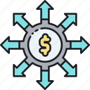 crowdfunding, crowdfunding portal, finance, funds, money icon
