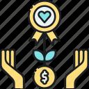 charity, crowdfund, crowdfunding, donate, donation, donation based crowdfunding icon
