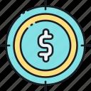 crowdfunding goal, crowdfunding target, finance goal, funding goal, funding target, money goal icon