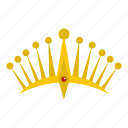 authority, big crown, decoration, king, leader, luxury, nobility icon