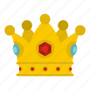 authority, decoration, king, leader, luxury, nobility, precious crown icon