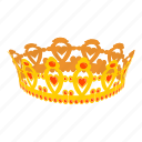 king, prince, crown, queen, coronet, cartoon, luxury icon