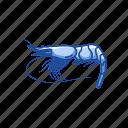 animal, food, king prawn, sea creature, shrimp, sushi, whiteleg shrimp icon