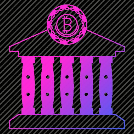 bank, bitcoin, cryptocurrency, digital money, mining icon