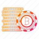 bitcoin, cash, coin, cryptocurrency, digital money, mining icon
