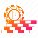 bitcoin, cryptocurrency, digital money, mining, protect, wall