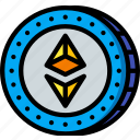 crypto, crypto currency, ethereum, money, stock trading icon