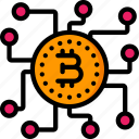 bitcoin, chip, crypto, crypto currency, ethereum, money, stock trading icon