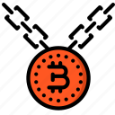 bitcoin, chain, crypto, crypto currency, ethereum, money, stock trading icon