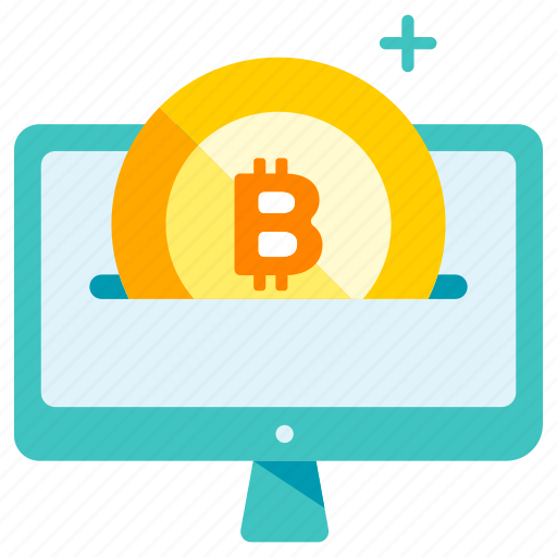 bitcoin, cryptocurrency, currency, digital, insert, online, trade icon