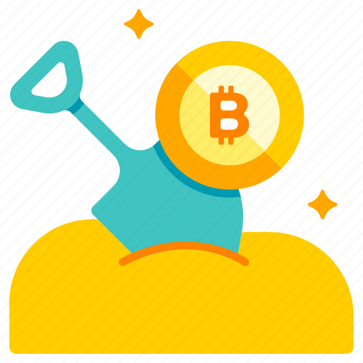 bitcoin, cryptocurrency, currency, digital, mine, mining, online icon