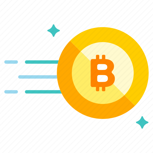 bitcoin, blockchain, cryptocurrency, currency, digital, move, trade icon
