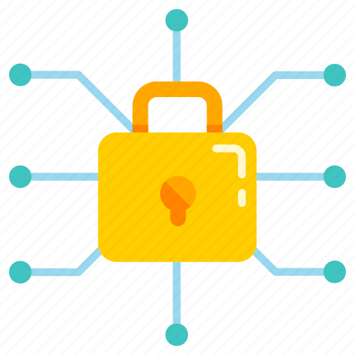 bitcoin secure, digital, network, privacy, protection, secure, security icon
