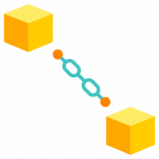 bitcoin, blockchain, currency, digital, financial, link, network icon