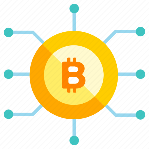 bitcoin, blockchain, cryptocurrency, currency, digital, money, trade icon