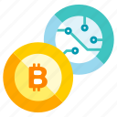 bitcoin, blockchain, cryptocurrency, currency, digital, trade icon