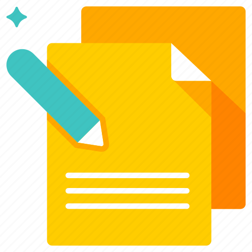 document, note, short note, taking, writing icon