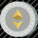 crypto, crypto currency, ethereum, money, stock trading icon
