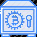 bitcoin, crypto, crypto currency, ethereum, money, safe, stock trading icon