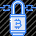 money, stock trading, bitcoin, crypto, ethereum, lock, crypto currency icon