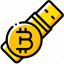 bitcoin, crypto, crypto currency, ethereum, money, stock trading, usb icon