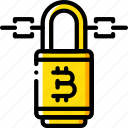 bitcoin, crypto, crypto currency, ethereum, lock, money, stock trading icon