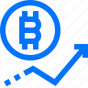 analytics, bitcoin, cryptocurrency, diagram, graph, growth up, statistic icon
