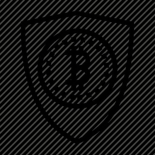 bitcoin, blockchain, blockchain security, cryptocurrency, shield icon