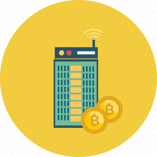 bitcoin, coin, cryptocurrency, digital, online, server, technology icon