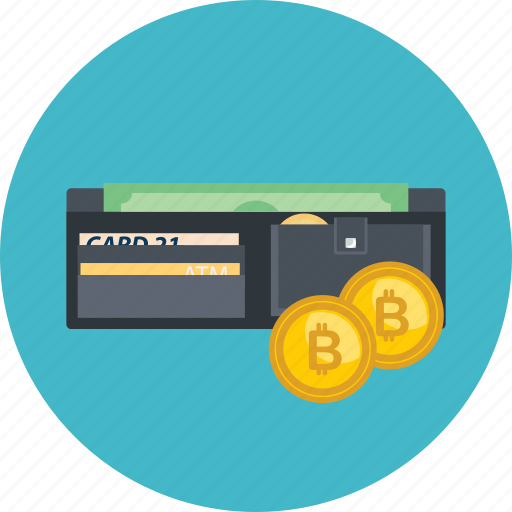 bitcoin, card, cash, coin, cryptocurrency, save, wallet icon