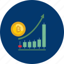 bitcoin, coin, cryptocurrency, graph, grow, pump, statistic icon