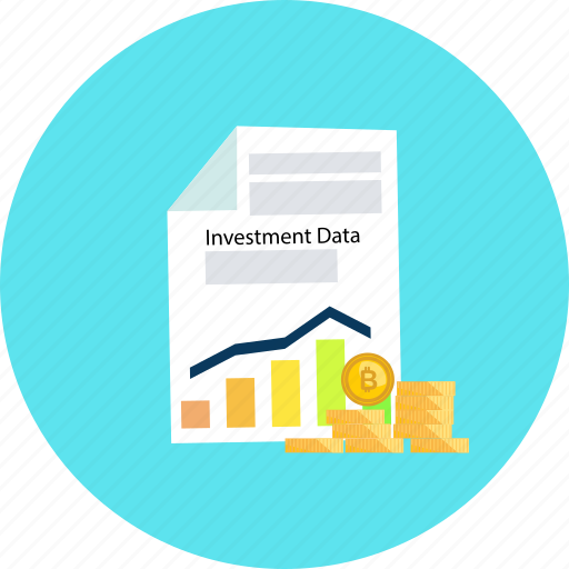 bitcoin, coin, cryptocurrency, data, graph, investment, report icon