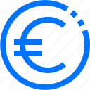 cash, coin, cryptocurrency, euro, europe, money, payment icon