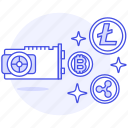 asset, c, card, crypto, cryptocurrency, cryptomining, digital, graphic, mining, vga, video icon