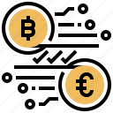 currency, money, crypto, digital, exchange icon